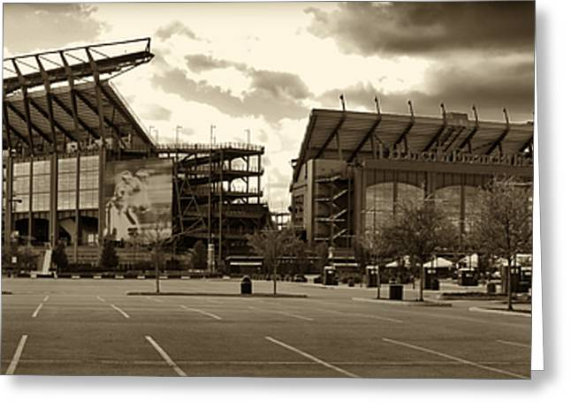 Schmidt Greeting Cards - Lincoln Financial Field Greeting Card by Jack Paolini