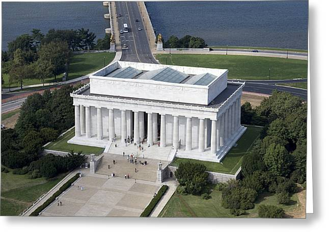 Tidal Photographs Greeting Cards - Lincoln Memorial, 2006 Greeting Card by Granger