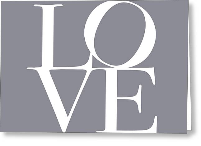 Chic Digital Greeting Cards - Love in Grey Greeting Card by Michael Tompsett
