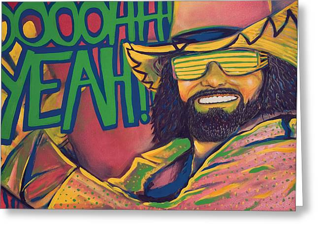 Spray Paint Mixed Media Greeting Cards - Macho Man Greeting Card by Derek Donnelly