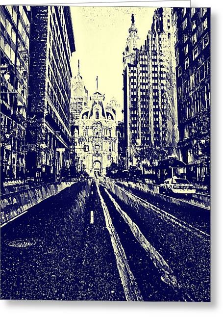 Cityhall Greeting Cards - Market Street  Greeting Card by Bill Cannon