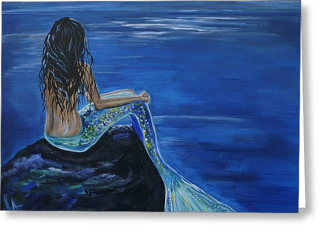 Picture Of Mermaids Greeting Cards - Mermaid Enchantment Greeting Card by Leslie Allen