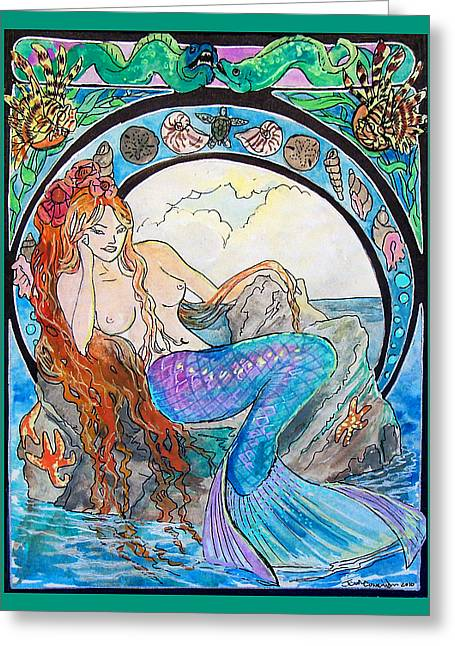 Jenn Cunningham Greeting Cards - Mermaid Song Greeting Card by Jenn Cunningham