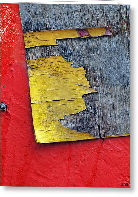 Pare Greeting Cards - Miami Red Abstract Greeting Card by Anahi DeCanio