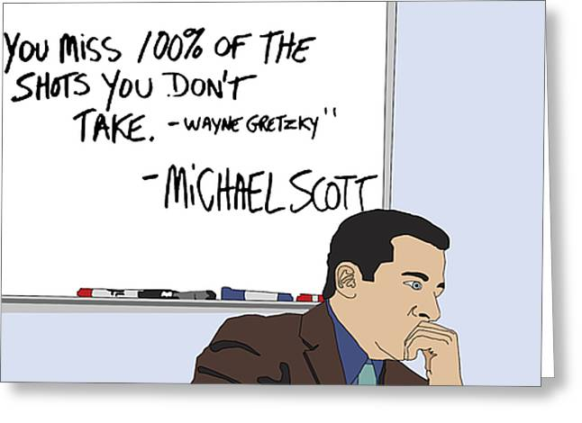 Tv Show Greeting Cards - Michael Scott from The Office Greeting Card by Tomas Raul Calvo Sanchez