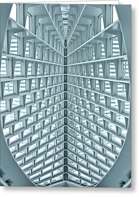 Hall Greeting Cards - Milwaukee Art Museum Greeting Card by Scott Norris