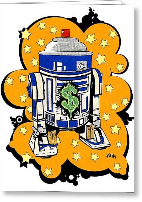 Mashup Greeting Cards - Money Makin Drobot - Series One Greeting Card by Keith QbNyc