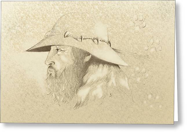 White Face Mountain Greeting Cards - Mountain Man Greeting Card by Robert Martinez