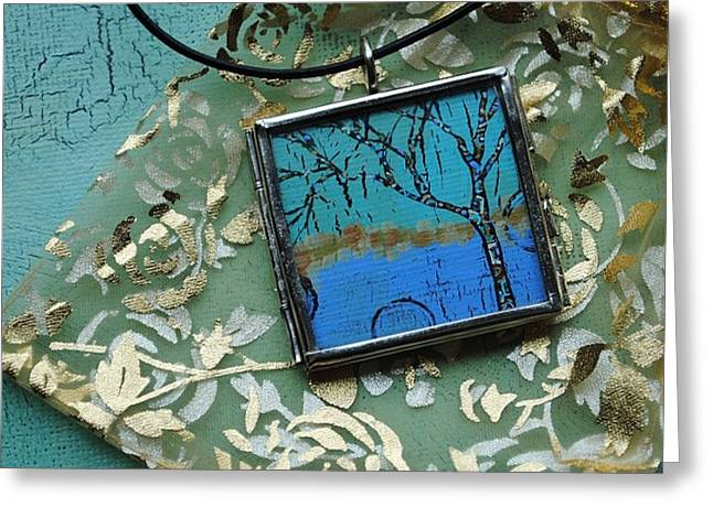 Acrylic Art Jewelry Greeting Cards - Natures Wisdom Greeting Card by Dana Marie