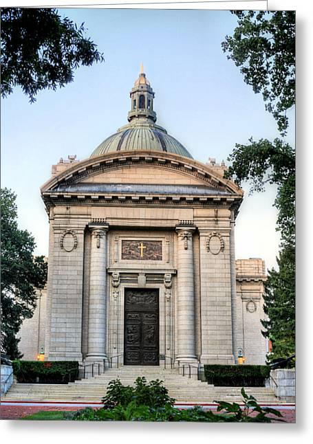Annapolis Md Greeting Cards - Naval Academy Chapel Greeting Card by JC Findley