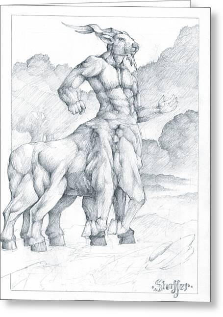 Narnia Greeting Cards - Nessus the Centaur Greeting Card by Curtiss Shaffer