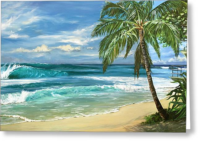 North Shore Paintings Greeting Cards - North Shore Greeting Card by Lisa Reinhardt