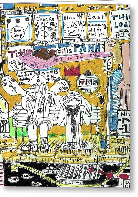 Basquiat Greeting Cards - Nothing To Spare Greeting Card by Robert Wolverton Jr