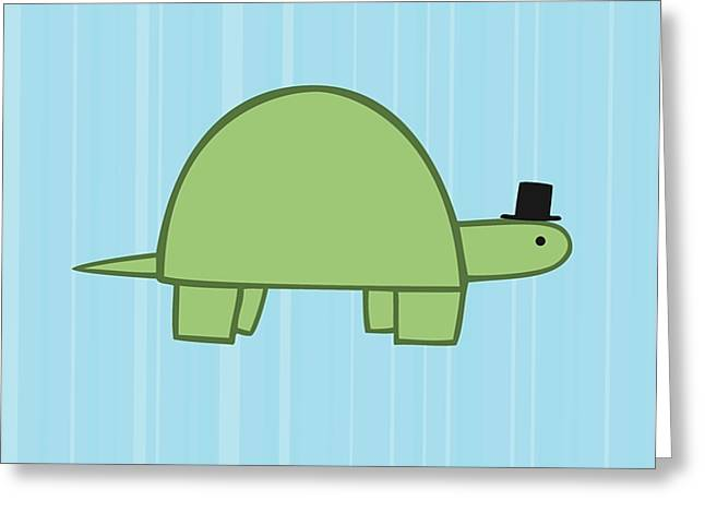For Kids Greeting Cards - Nursery Art Boy Turtle Greeting Card by Christy Beckwith