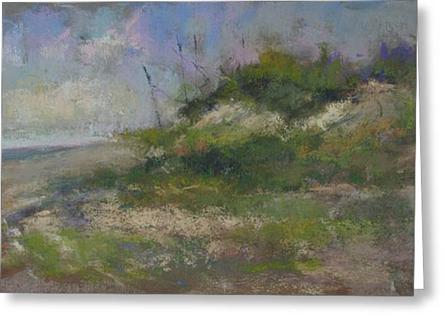 Sand Dunes Pastels Greeting Cards - Ocean City Dune Greeting Card by Susan Williamson