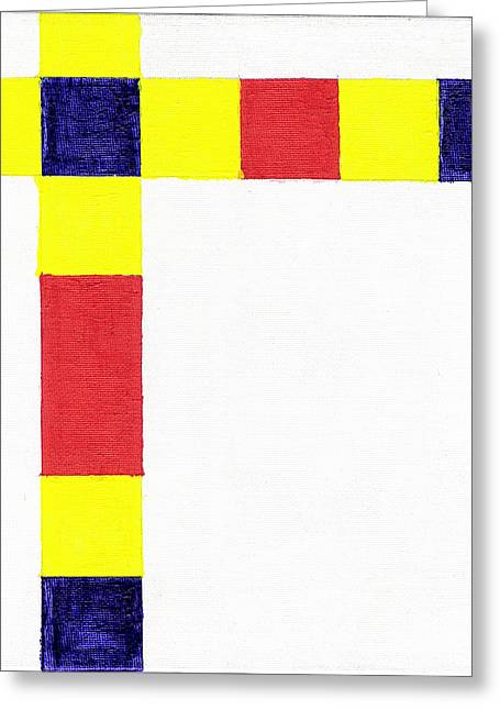 Titanium White Greeting Cards - Ode To Mondrian Greeting Card by Eric Forster