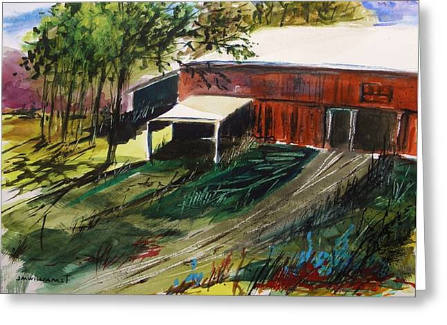 Old Barns Drawings Greeting Cards - Old Horse Stable Greeting Card by John  Williams