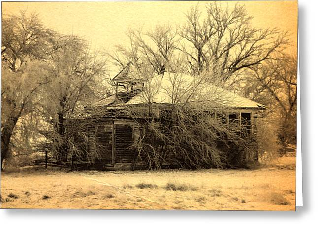 Country Schools Greeting Cards - Old School House Greeting Card by Julie Hamilton