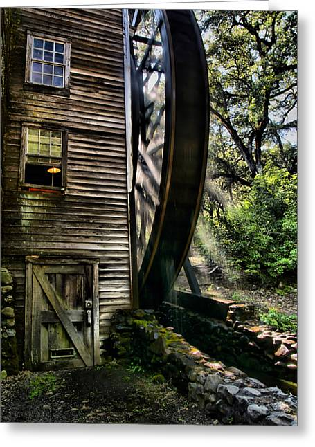 Bale Greeting Cards - Old Water Wheel Greeting Card by Michael  Ayers