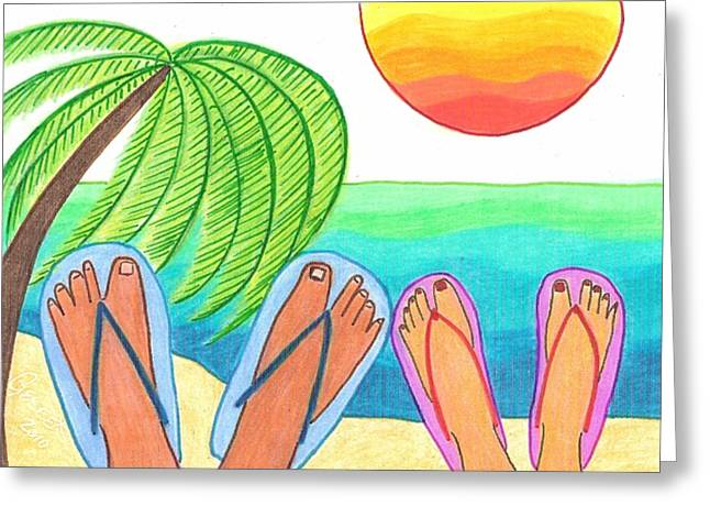 Our Dream Vacation Greeting Card by Geree McDermott