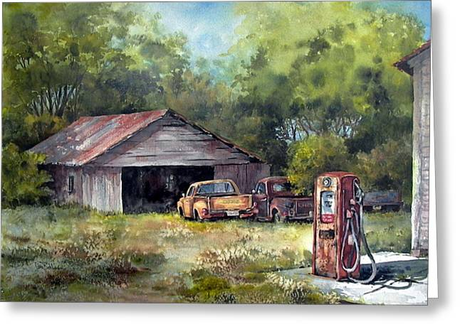 Outta Gas Greeting Card by Tina Bohlman