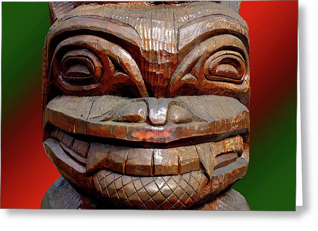 Native American Sculptures Greeting Cards - PacificNorthWest3 Greeting Card by Robert Trauth