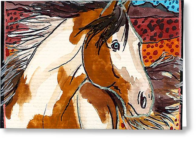 Jenn Cunningham Greeting Cards - Painted ponies 6 of 10 Greeting Card by Jenn Cunningham