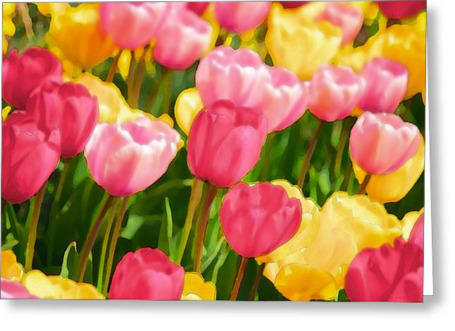Fruehling Greeting Cards - Pastell Impression Greeting Card by Angela Doelling AD DESIGN Photo and PhotoArt