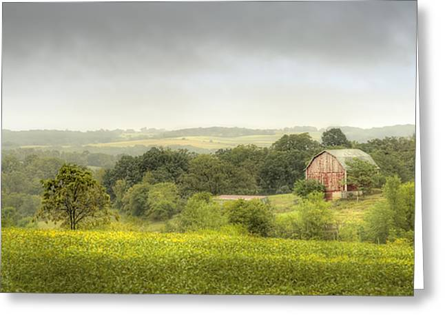 Wisconsin Barn Greeting Cards - Pastoral Barn Greeting Card by Scott Norris