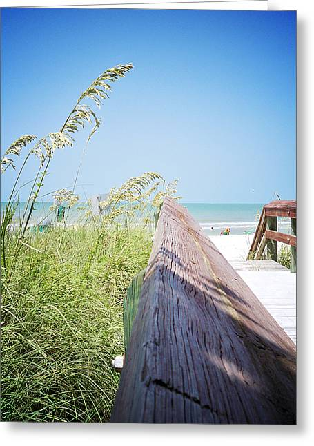 Florida Bridge Greeting Cards - Path to Relaxation Vanilla Pop Greeting Card by Chris Andruskiewicz