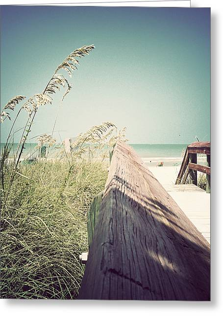 Florida Bridge Greeting Cards - Path to Relaxation-Vintage Greeting Card by Chris Andruskiewicz