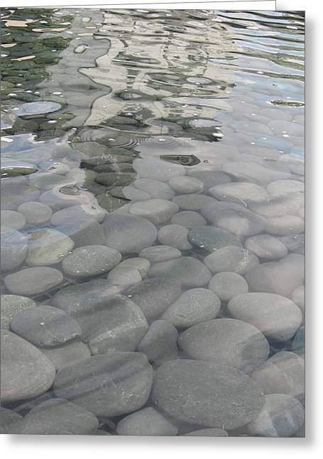 Pebbles Greeting Card by Nancy Dole McGuigan