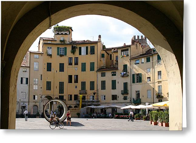 Piazza Antifeatro Lucca Greeting Card by Mathew Lodge