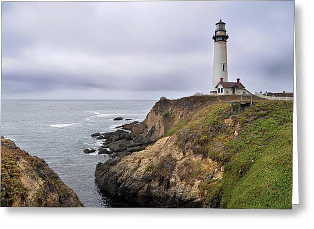 Pigeon Point Light Station Greeting Cards - Pigeon Point Light Station Greeting Card by Chris Dahl