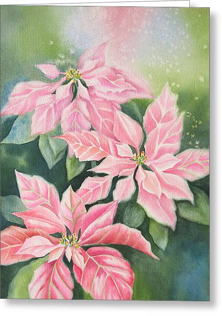 Pink Delight Greeting Card by Deborah Ronglien