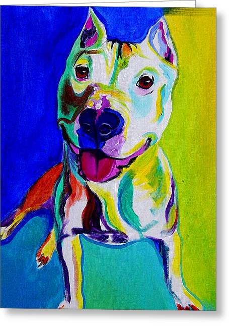 Framed Pit Bull Print Greeting Cards - Pit Bull - Hercules Greeting Card by Alicia VanNoy Call