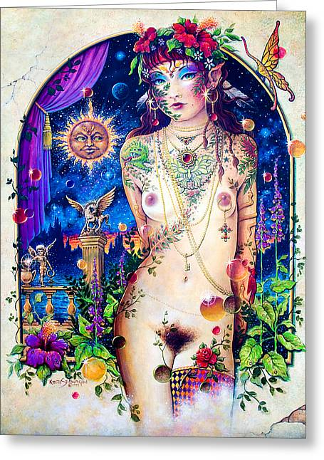 Recently Sold -  - Hallucination Greeting Cards - Pixie Queen Greeting Card by Keith Stillwagon