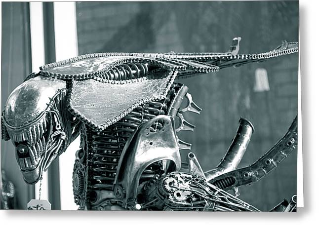 Iron Sculptures Greeting Cards - Predator Greeting Card by Yurix Sardinelly