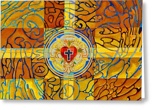 Lutheran Greeting Cards - Psychedelic Rose Greeting Card by Mark Jennings