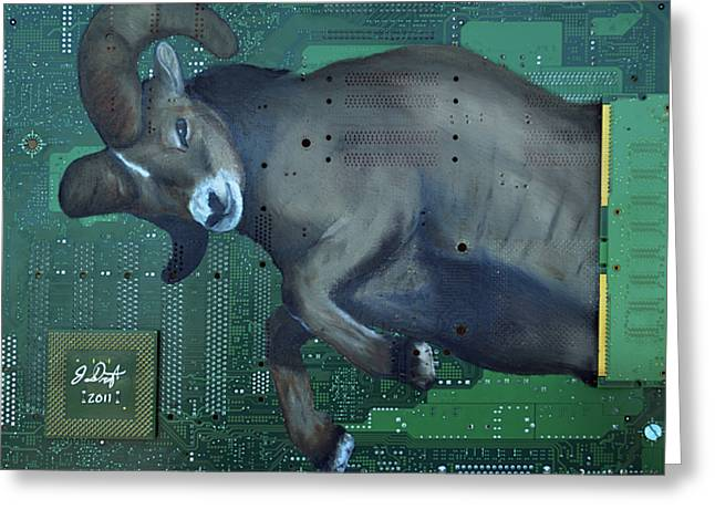 Mother Board Greeting Cards - Ram Greeting Card by Joe Dragt