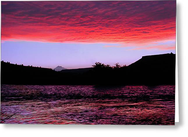 Arthur Fix Greeting Cards - Redsides Sunset Greeting Card by Arthur Fix