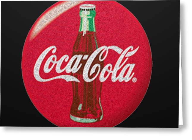 Coca Cola Signs Greeting Cards - Refreshing Greeting Card by Cheryl Young
