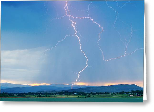 Rocky Mountain Front Range Foothills Lightning Strikes 1 Greeting Card by James BO  Insogna