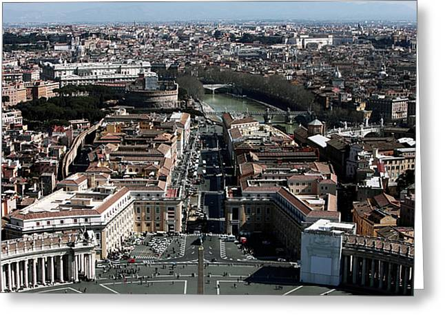 Peter Art Prints Posters Gallery Greeting Cards - Rome Cityscape 3 Greeting Card by John Rizzuto