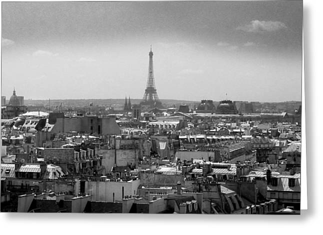 Elevated Greeting Cards - Roof of Paris. France Greeting Card by Bernard Jaubert
