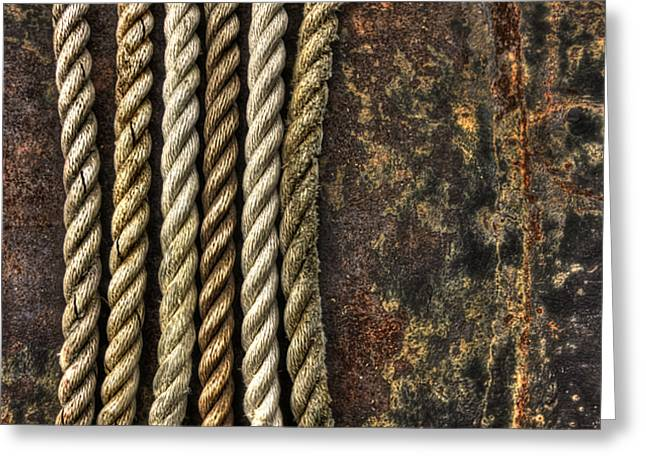 Ropes Greeting Cards - Ropes Greeting Card by Evelina Kremsdorf