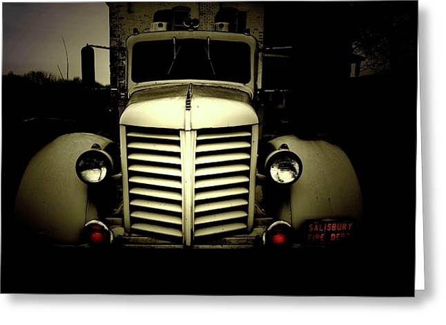 Emergency Vehicle Greeting Cards - Rusting from Fire Greeting Card by Steven  Digman