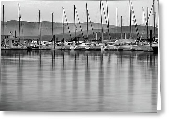 Lake Pend Oreille Greeting Cards - Sail Boats Greeting Card by Leland D Howard