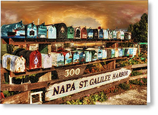 Sausalito Digital Greeting Cards - Sailors Mailbox Greeting Card by Michael Cleere