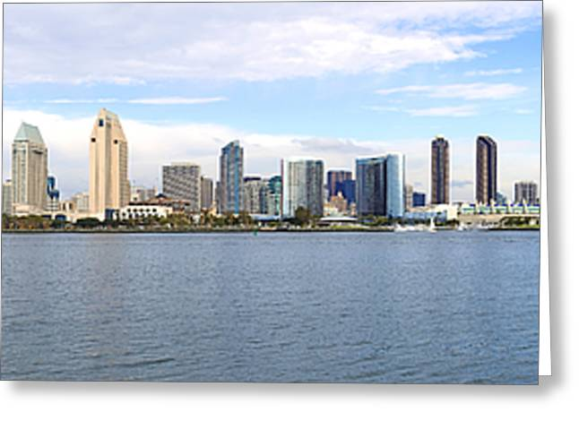 Convention Greeting Cards - San Diego skyline panorama California. Greeting Card by Gino Rigucci